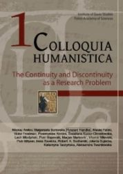 Colloquia_humanistica_1._The_Continuity_and_Discontinuity_as_a_Reserch_Problem