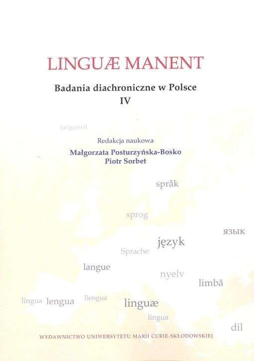 Linguae_manent._Badania_diachroniczne_w_Polsce_IV