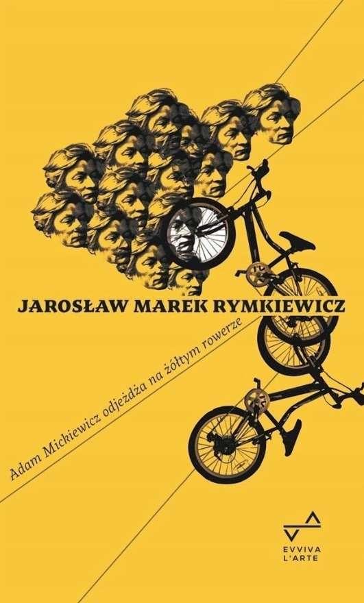Adam_Mickiewicz_odjezdza_na_zoltym_rowerze