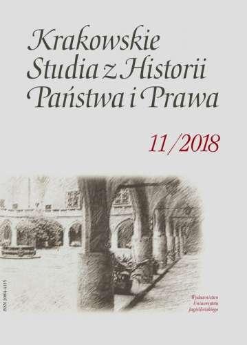Krakowskie_Studia_z_Historii_Panstwa_i_Prawa_2018_11_z._3