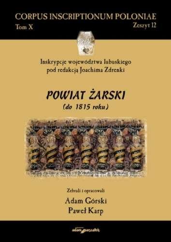 Corpus_Inscriptionum_Poloniae_Tom_X._Zeszyt_12._Powiat_zarsk