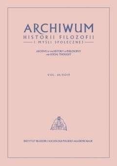 Archiwum_Historii_Filozofii_i_Mysli_Spolecznej_64_2019._Archive_of_the_History_of_Philosophy_and_Social_Thought