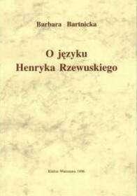O_jezyku_Henryka_Rzewuskiego
